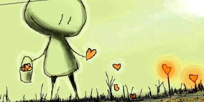 dibujos de amor faciles