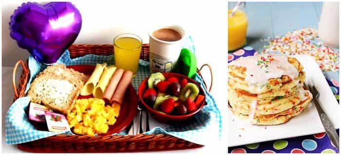 fiesta de cumpleaños desayuno