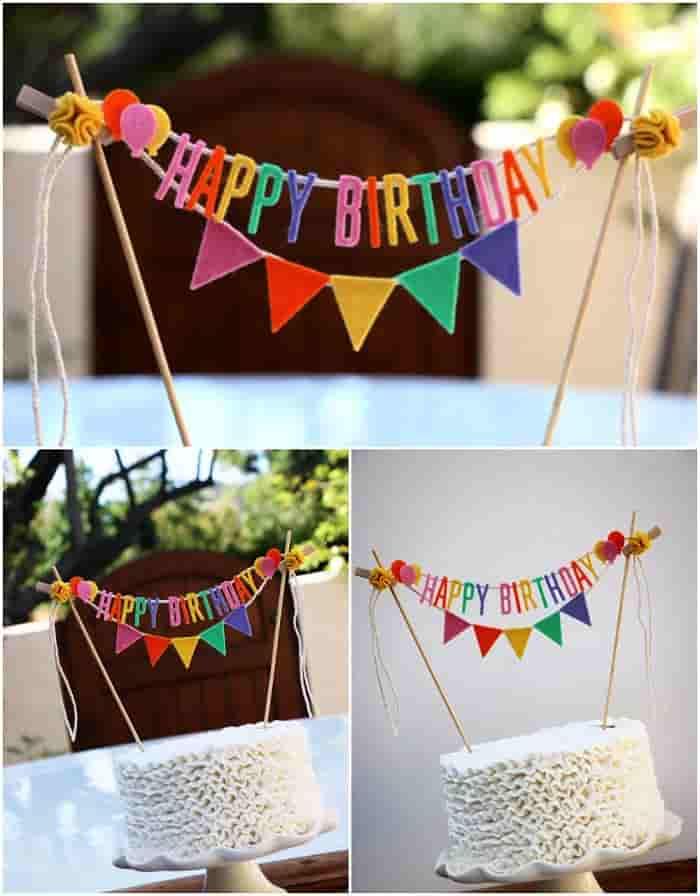 banderines para fiestas de cumpleaños